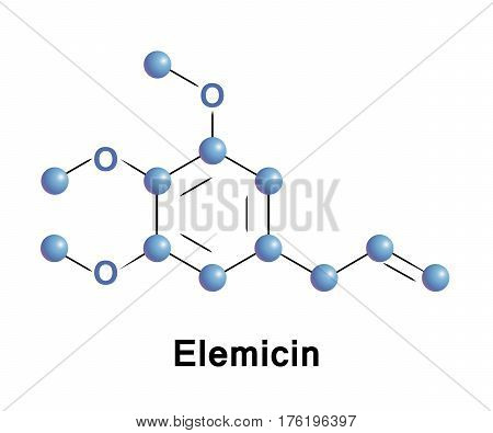 Elemicin is a phenylpropene, a natural organic compound, and is a constituent of several plant species essential oils