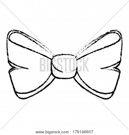 bowtie ribbon isolated icon vector illustration design