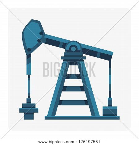 Oil industry production station extracting cartoon icon energy processing platform petroleum drilling technology factory design vector illustration. Pollution environmental pipe derrick.