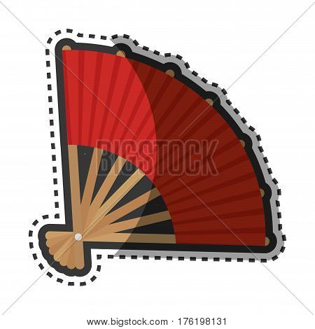 fan japanese culture isolated icon vector illustration design