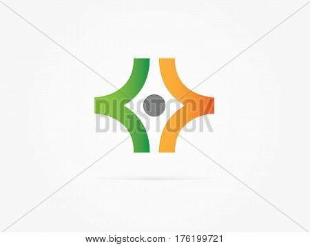 Vector Illustration abstract Initial letters XX green orens logo
