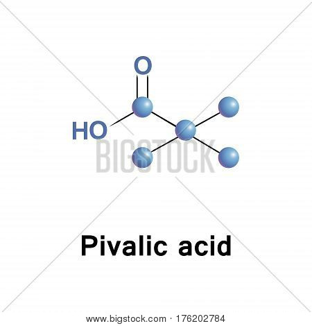 Pivalic acid is a carboxylic acid, molecular formula. This colourless, odiferous organic compound is solid at room temperature.