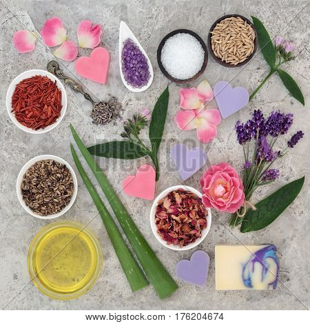 Natural ingredients for skin health care to help heal eczema and psoriasis.