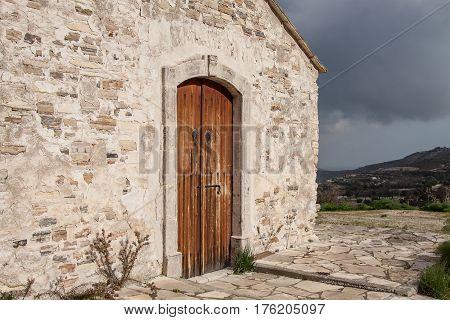 KATO LEFKARA CYPRUS - FEBRUARY 09 2017: Church of Archangel Michael