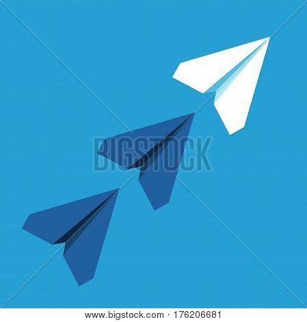 Unique White Paper Plane