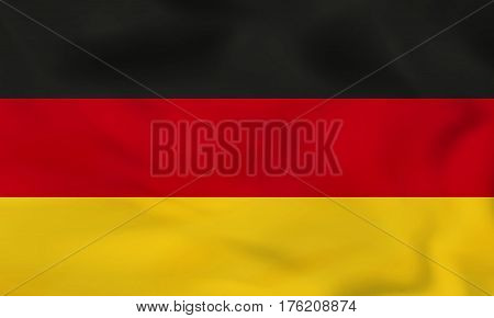 Germany Waving Flag. Germany National Flag Background Texture.
