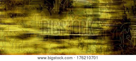 Abstract, abstract pattern on yellow background. Abstract symbols. Abstract yellow. Yellow. Yellow background. Grunge background.
