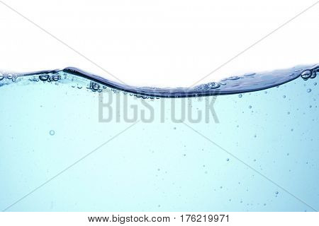 abstract water wave on the white