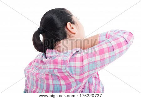 Young Woman Having Pain In The Neck
