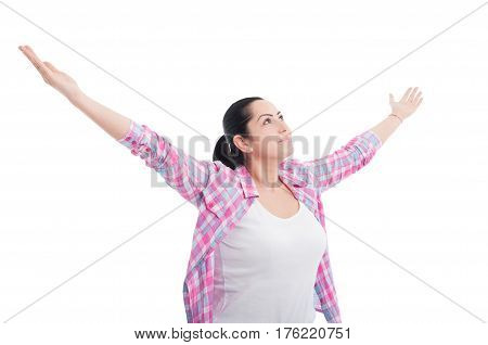 Cheerful Female Enjoying Victory