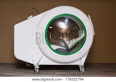 Exterior Of Individual Hyperbaric Recompression Chamber.
