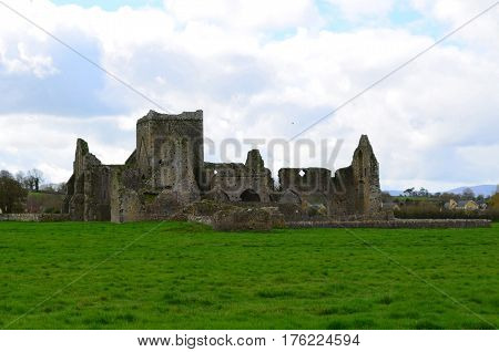 View of Hore Abbey in the Middle of a Field