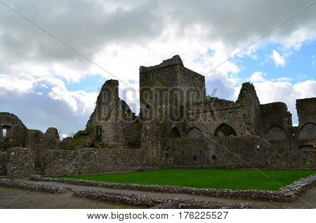 Old stone ruins of Hore Abbey in County Tipperary.