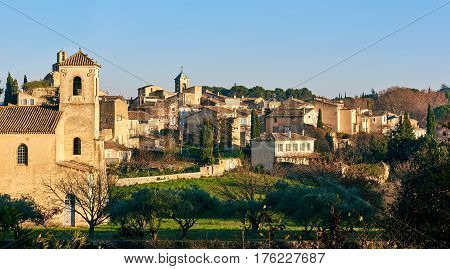 Village of Lourmarin. Listed as the most beautiful villages of France. Provence-Alpes-Cote d'Azur.