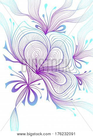 Beautiful light abstract background with lace flower bows blue lilac on white for wallpaper or  decoration package perfumer textile clothes or for screen on mobile telephone tablet or for banners