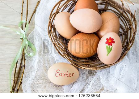 hen's egg with text