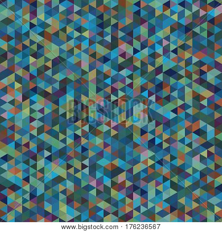 bstract Geometric Seamless Pattern of Colored Triangles. Colorful Retro Triangle Design.