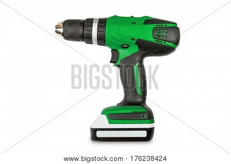 Green Color Cordless Combi Drill
