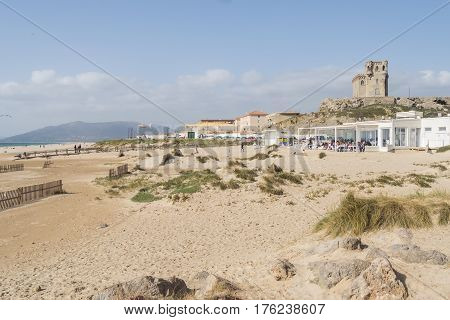 Tarifa beach Cadiz Kitesurf place in Spain