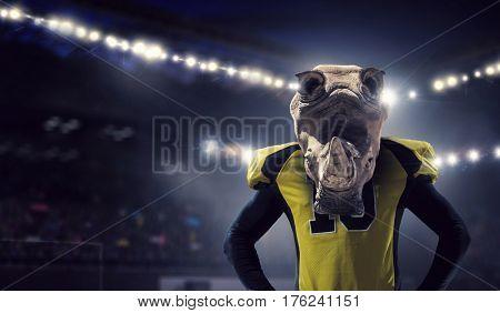 Furious rhinos team . Mixed media