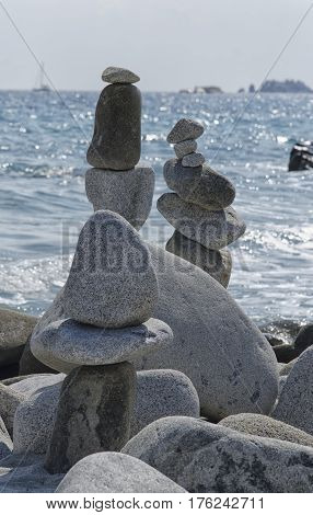 View of stones monuments in incredible balance