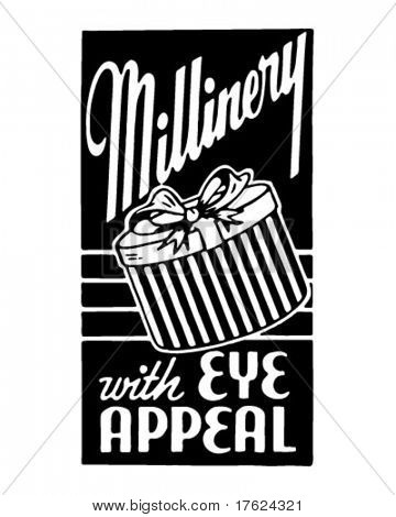 Millinery - Retro Ad Art Banner