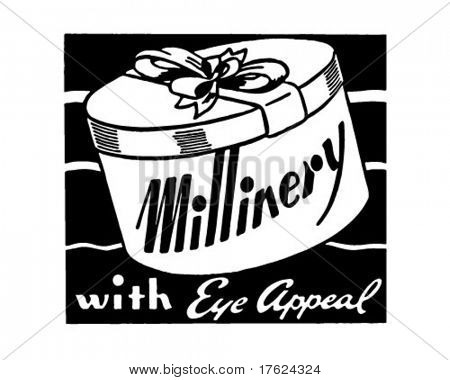 Millinery 2 - Retro Ad Art Banner
