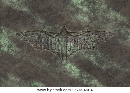 An image of a petrified bat background