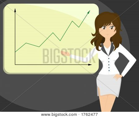 Lady Doing A Business Presentation