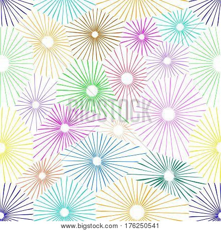 Seamless colorful flower pattern. Simple color repeatable background. Flourish, blossoms pattern.