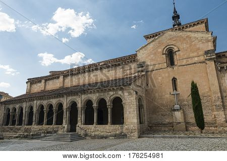 Segovia (Castilla y Leon Spain): exterior of the medieval church of San Millan