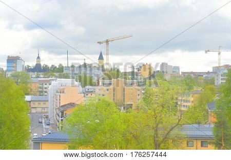 View of Lappeenranta. City and municipality in Finland in the province of Eastern Finland.