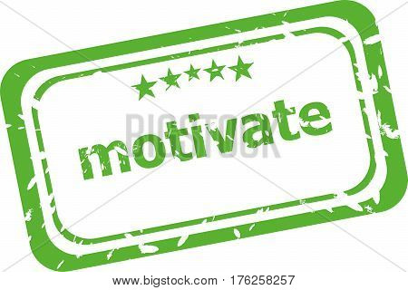 Motivate Grunge Rubber Stamp Isolated On White Background