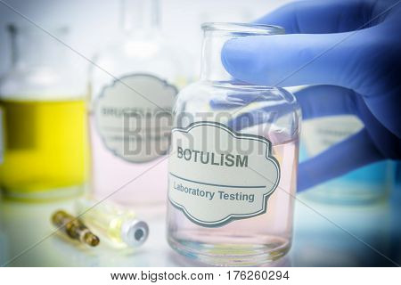 Tests for Research of Botulism, healtcare concept