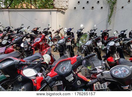 Motorbikes Parking On Street