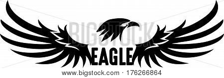 Black Eagle Logo, Abstract Eagle, Vector, Illustration