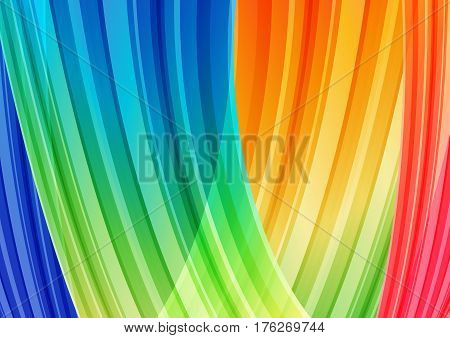 Yellow and light blue cover strips curved background