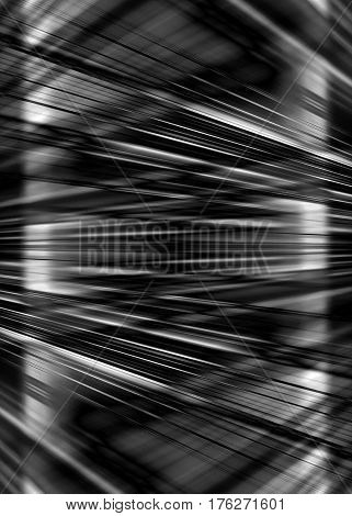 Dynamic black and white light beams background