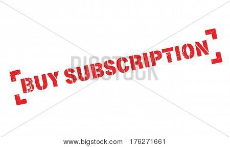 Buy Subscription rubber stamp. Grunge design with dust scratches. Effects can be easily removed for a clean, crisp look. Color is easily changed.