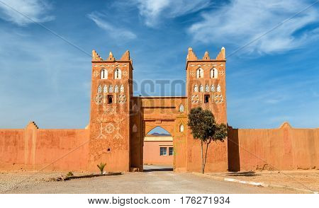Traditional buildings in Boumalne Dades city near the Dades Gorges, Morocco