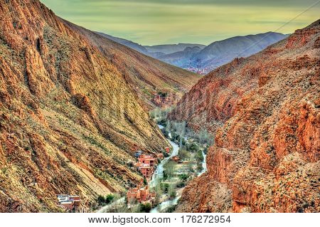 The Dades Valley in the High Atlas Mountains - Morocco, North Africa