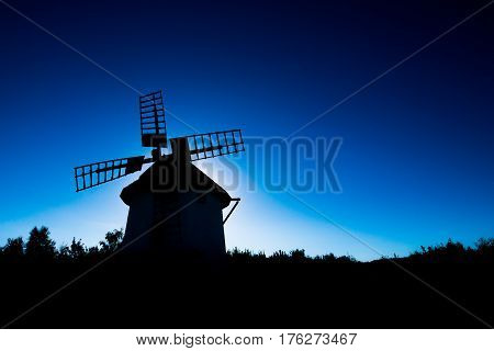 Windmill - open air museum Stara Ves, Chomutov, Czech Republic