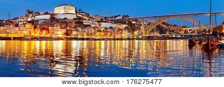 Porto Old Town Panorama, Portugal