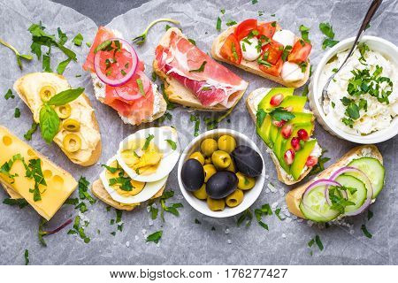 Sandwiches Set Background
