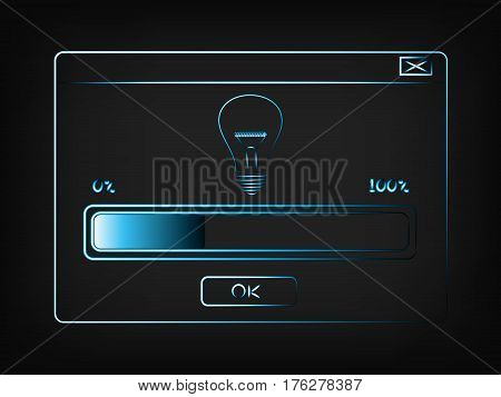 Vector With Pop-up Window And Progress Bar