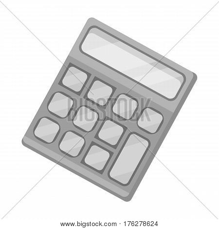 Calculator. Machine to quickly count data. Math .School And Education single icon in monochrome style vector symbol stock web illustration.