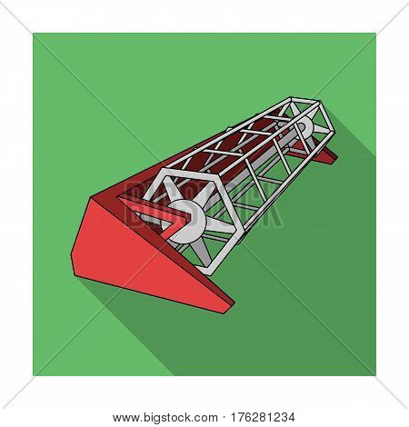 Metal attachment to the tractor for the harvest. Modern agricultural machinery.Agricultural Machinery single icon in flat style vector symbol stock web illustration.