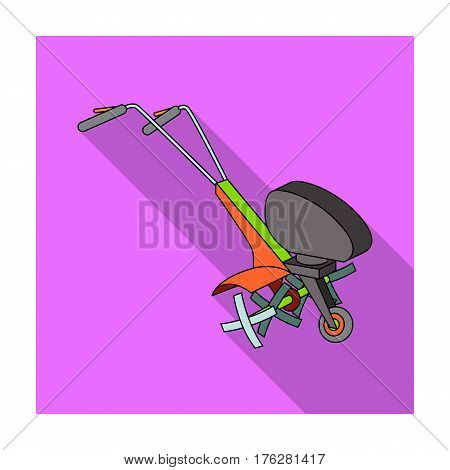 Mowers for cutting grass and lawn. Agricultural machinery for the court.Agricultural Machinery single icon in flat style vector symbol stock web illustration.