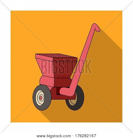 Agricultural Machinery .The machine for cutting agricultural hay.Agricultural Machinery single icon in flat style vector symbol stock web illustration.
