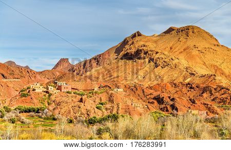 Landscape of Dades Valley in the High Atlas Mountains - Morocco